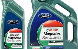 Масло 5w20 castrol ford